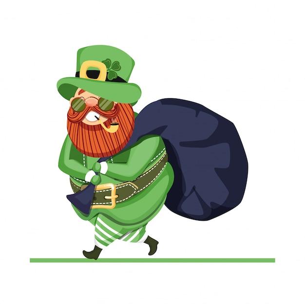 St. patricks day kobold charakter.