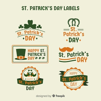 St. patricks day label-sammlung