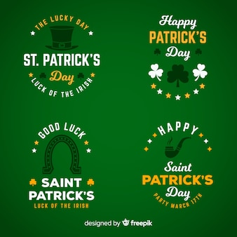 St. patricks day label-sammlung