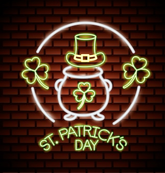 St. patricks day neon