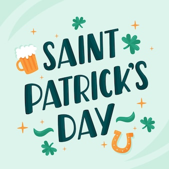 St. patricks day schriftzug konzept