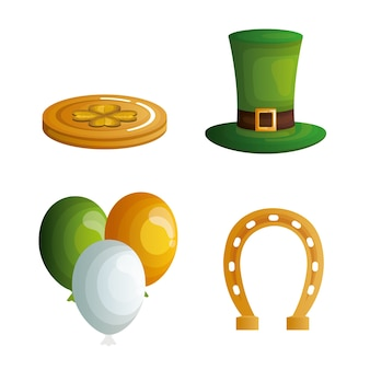 St. patricks day stellen icons