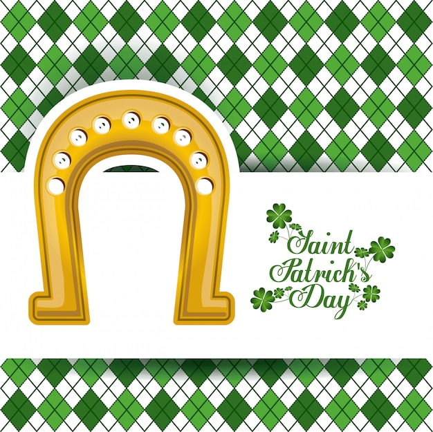 St. patricks tagesdesign, vektorillustration.