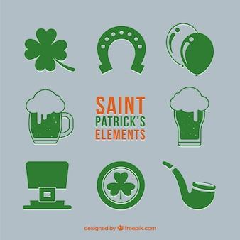 St. patricks tageselement-sammlung