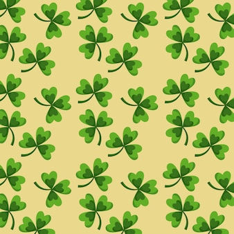 St.-patricks tagesgrün kleidet nahtloses musterdesign