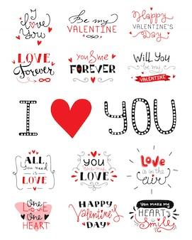 St. valentinstag hand schriftzug