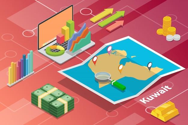 Staat des kuwait isometrischen wachstumslandes der wirtschaft