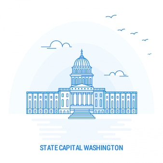 Staatliches kapital washington blue landmark