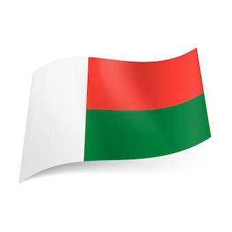 Staatsflagge von madagaskar.