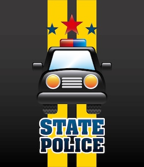 Staatspolizeidesign, grafik der vektorillustration eps10