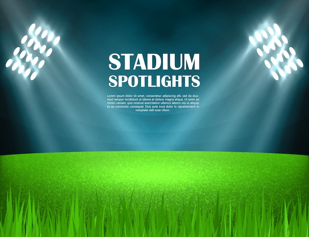 Stadion beleuchtet konzept