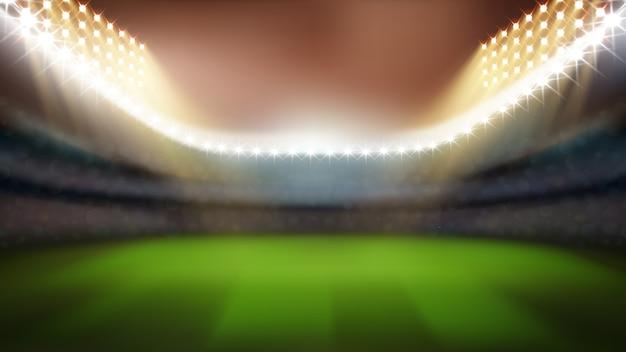 Stadion mit hellen lichtern