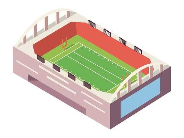 Stadionfußball isometrisch