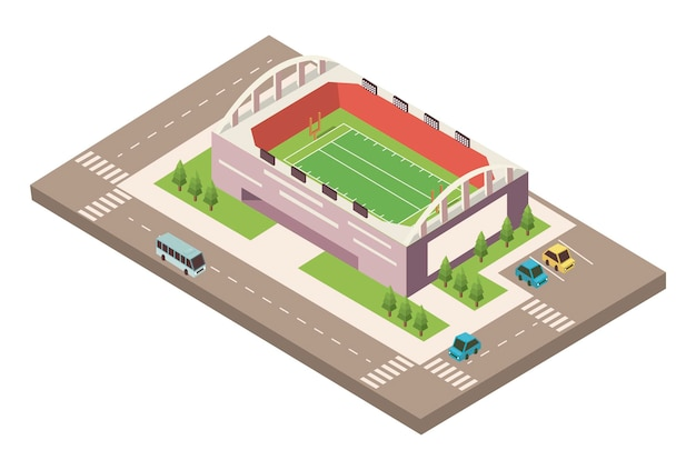 Stadionfußball mit straße
