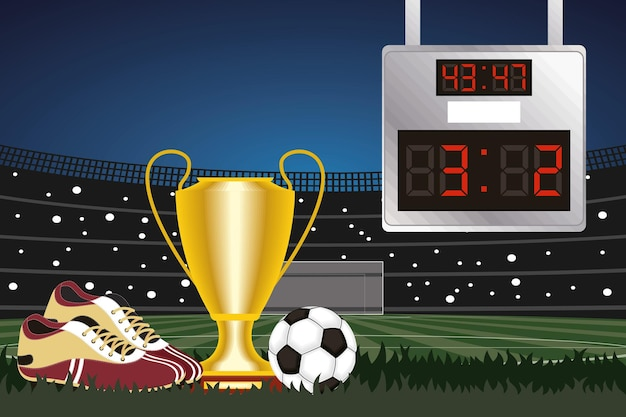 Stadionszene der fußballsportmeisterschaft