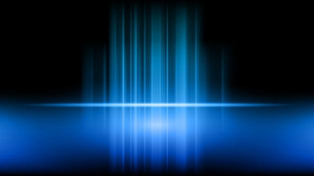 Stadium und darstellung des produktes auf blauem hintergrund
