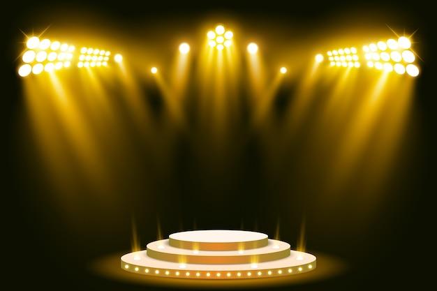 Stadiums-podium beleuchtete szenenscheinwerfer