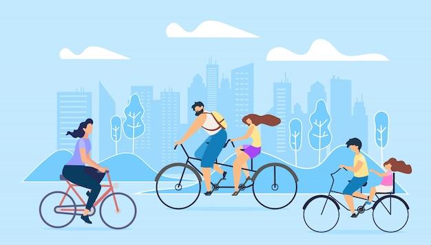 Stadt aktiver lebensstil