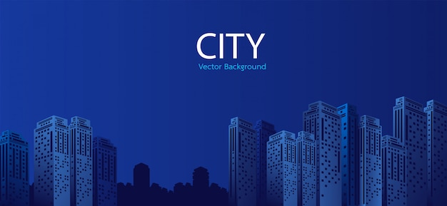 Stadt am nachthintergrund