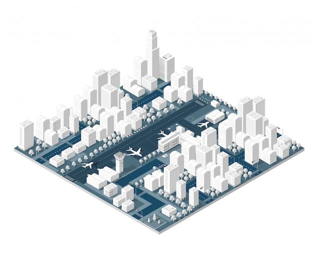 Stadt auf weißem design