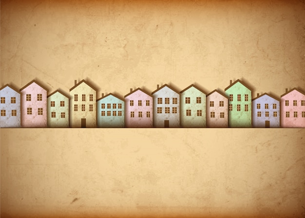 Stadt aus altem papier