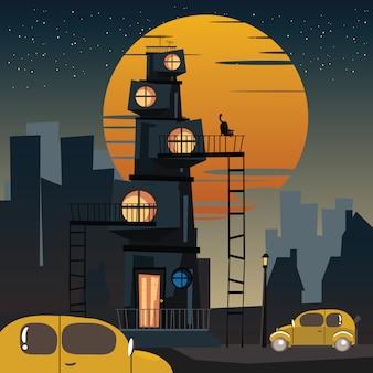 Stadt bei nacht