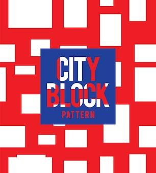 Stadt blockmuster