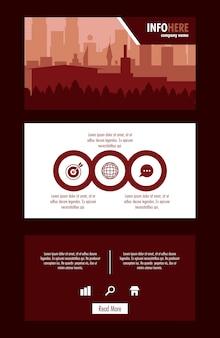 Stadt broschüre infographik