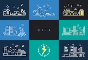 Stadt eingestellt