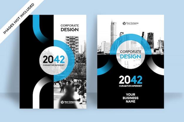 Stadt hintergrund business book cover design-vorlage