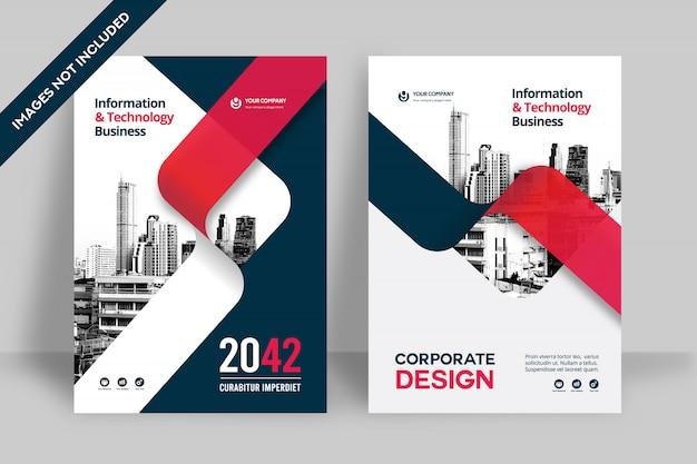 Stadt hintergrund business book cover design vorlage