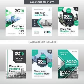 Stadt hintergrund business buch cover design vorlage set