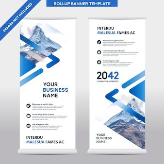 Stadt hintergrund geschäft roll up design template.flag banner design. kann an broschüre, geschäftsbericht, magazin, poster, unternehmenspräsentation, flyer, website angepasst werden
