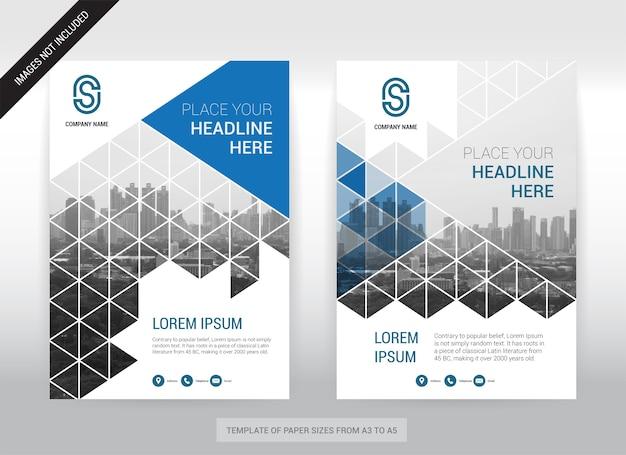 Stadt-hintergrund-geschäfts-abdeckungs-broschüren-design-schablone. einfach zu bedienen.