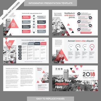 Stadt-hintergrund-geschäfts-firmen-darstellung mit infografik-schablone.