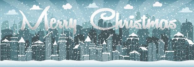 Stadt im winter (weihnachten)