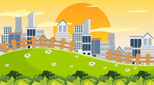 Stadt in der parkszene