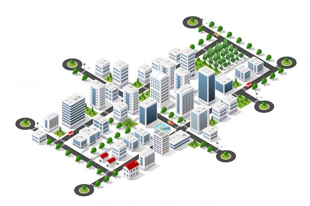 Stadt megapolis struktur