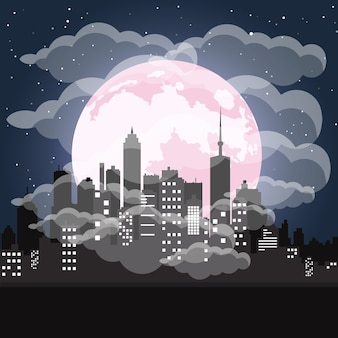 Stadt mit verschmutzungsproblem