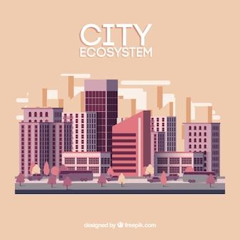 Stadt-ökosystem-konzept