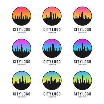 Stadt silhouette logo design-set