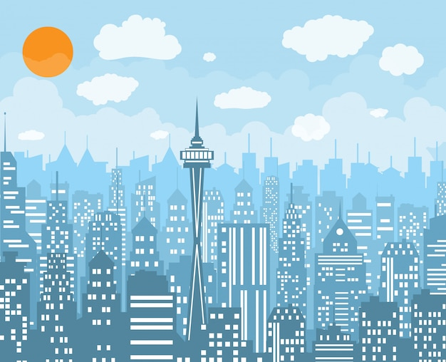 Stadt skyline vektor-illustration.