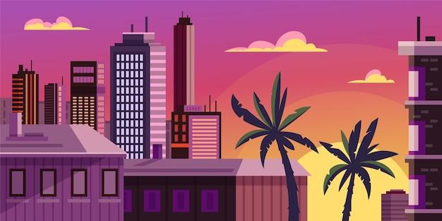 Stadt skyline wahrzeichen illustration