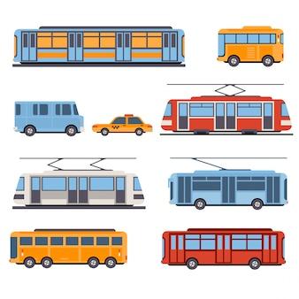 Stadt- und intercity-transport