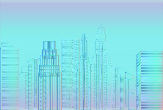 Stadt wolkenkratzer ansicht natur verschmutzung