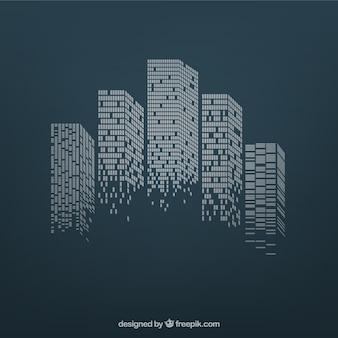 Stadt Wolkenkratzer
