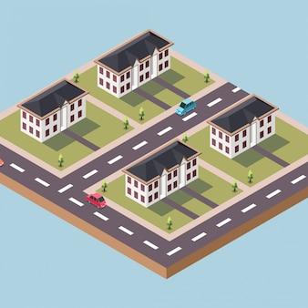 Stadtbeamtenwohnungen in einer stadt