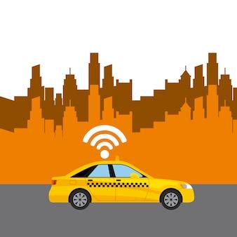 Stadtbild mit wifi-service
