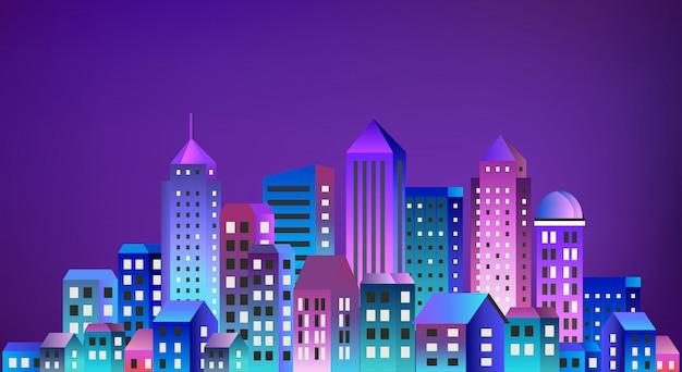 Stadtbildlandschaft ultraviolett