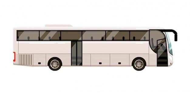 Stadtbus. personentransportikone auf weißem hintergrund. stadtbus für transportillustration